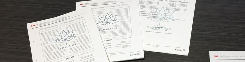Sampling of Canadian patents
